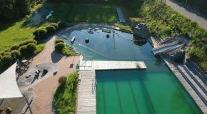 Naturschwimmbad von oben - Heigenbrücken